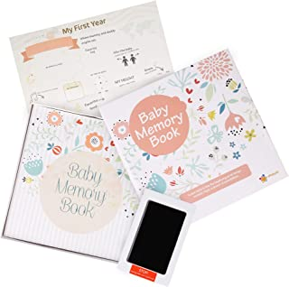 ehayas First 5 Years Baby Memory Book Journal with Wall Poster and Baby-safe Ink Pad - A Baby Record Book Photo Album for ...