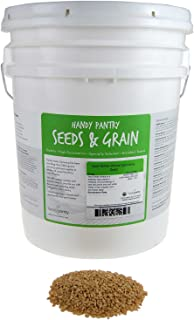 Hard White Wheat - Organic - 35 Lbs. Resealable Bucket - High Protein - Perfect for Food Storage, Flour, Baking, Sprouting & More