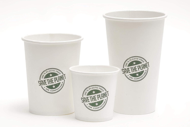 Needo Vasos desechables biodegradables para bebidas y cerveza, ecológicos, compostables, sin plástico, 50 unidades de 360 ml