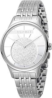 ساعة جريس للنساء بمينا فضية من الستانلس ستيل وعرض انالوج من اسبريت، ES1L026M0045