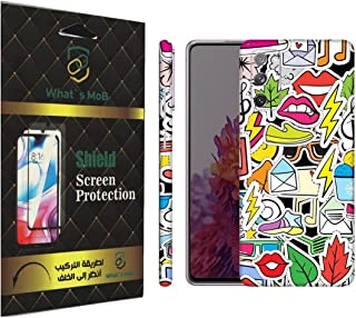 For SAMSUNG Galaxy S20 FE back full skin Doodle 07 soft felling Hd print by whats mob (Not Cover)