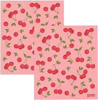 Now Designs Cherries Ecologie Swedish Sponge Set of 2 Kitchen Towel, 2 Count
