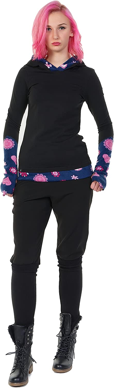 3Elfen Femme Sweats à Capuche Pull Hoodie/Sweat-Shirt Casual Manches Longues Femmes Pink Lady