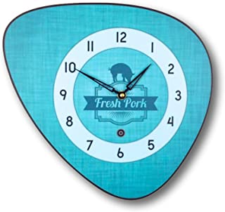 Horloge murale style vintage turquoise années 70
