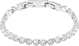 SWAROVSKI Women's Tennis Jewelry Collection, Rhodium Finish, Clear Crystals