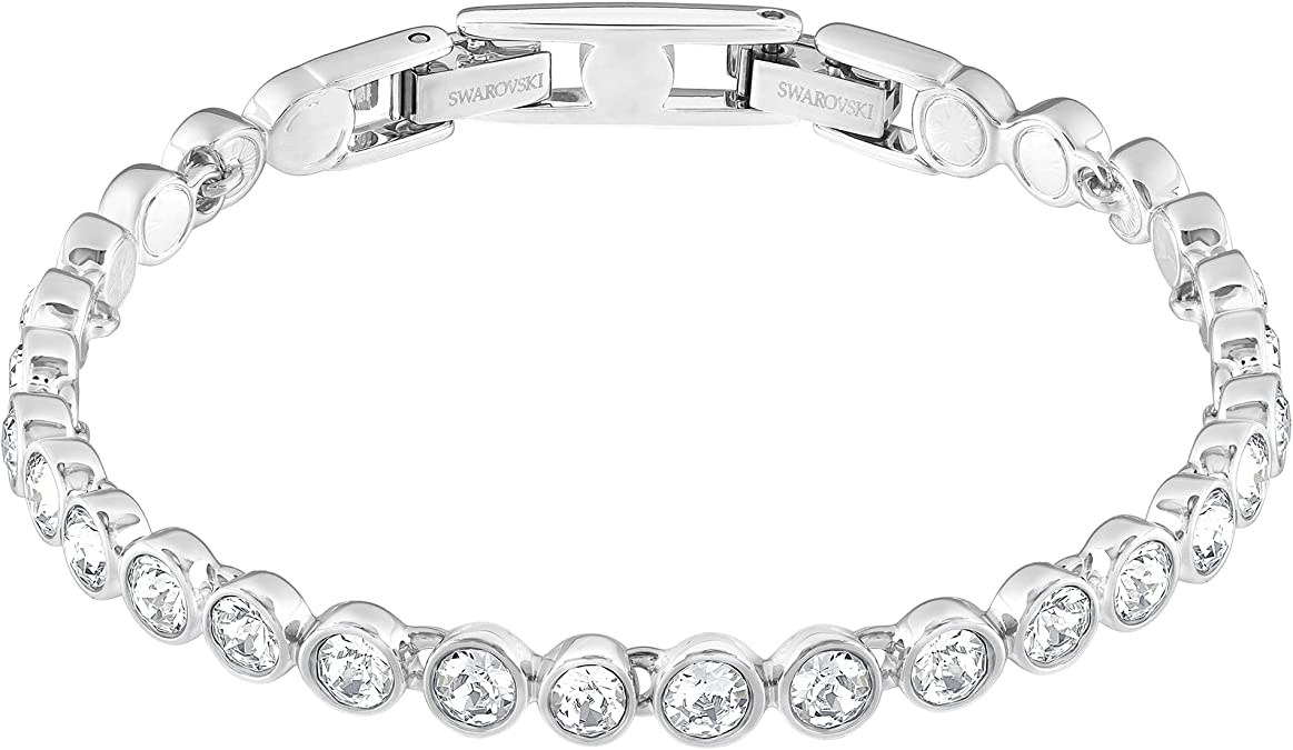 Roll over image to zoom in Swarovski Women's Tennis Bracelet and Earring Collection