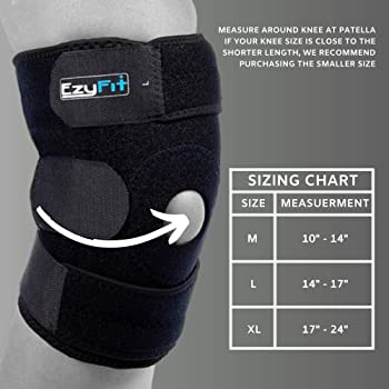 EzyFit Knee Brace Support for Arthritis, ACL, LCL, MCL, Sports Exercise, Meniscus Tear Injury Recovery - Side Stabili...