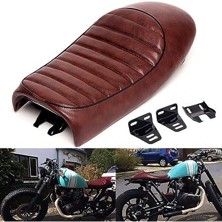 Brown Universal Seat Cafe Racer Vintage Saddle Fit For Honda CG125 Harley Bobber