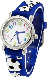 Vinmori Kid's Watch, with 3D Cartoon Pattern Silicone Band Waterproof Quartz Watch Gift for Children(Blue)