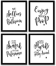 TheNameStore Bathroom Quotes and Sayings Art Prints | Set of Four Photos 8×10..