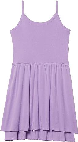 Baby Rib Flouncy Cami Mini Dress (Little Kids/Big Kids)