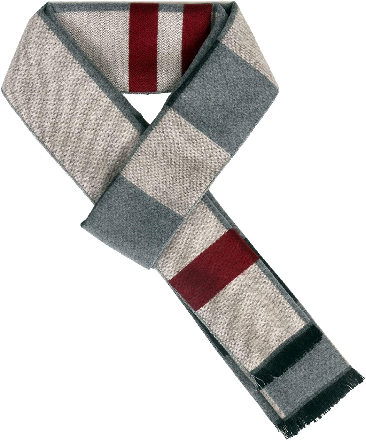 Ypser Men Cashmere Winter Scarf Soft Long Classic Scarves