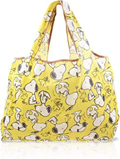 Reusable Grocery Shopping Bags Snoopy Yellow Foldable Tote Recycle Shopping Bag 1 Pack