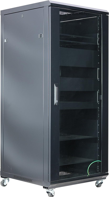 RAISING ELECTRONICS 27U Audio Vedio Rack Mount Server Rack Cabinet 600MM Deep