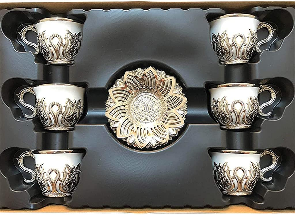 DIAOD Porcelain Coffee Cups Set of 6 4 OZ Saucers and Espresso S NEW New product!! before selling ☆