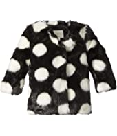 Kate Spade New York Kids - Polka Dot Faux Fur Coat (Infant)