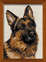 Riolis R1068 Counted Cross Stitch Kit, 9.5 by 11.75-Inch, German Shepherd