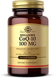 Solgar Megasorb CoQ-10 100 mg, 60 Softgels - Supports Heart Function & Healthy Aging - Coenzyme Q10 Supplement - Enhanced ...
