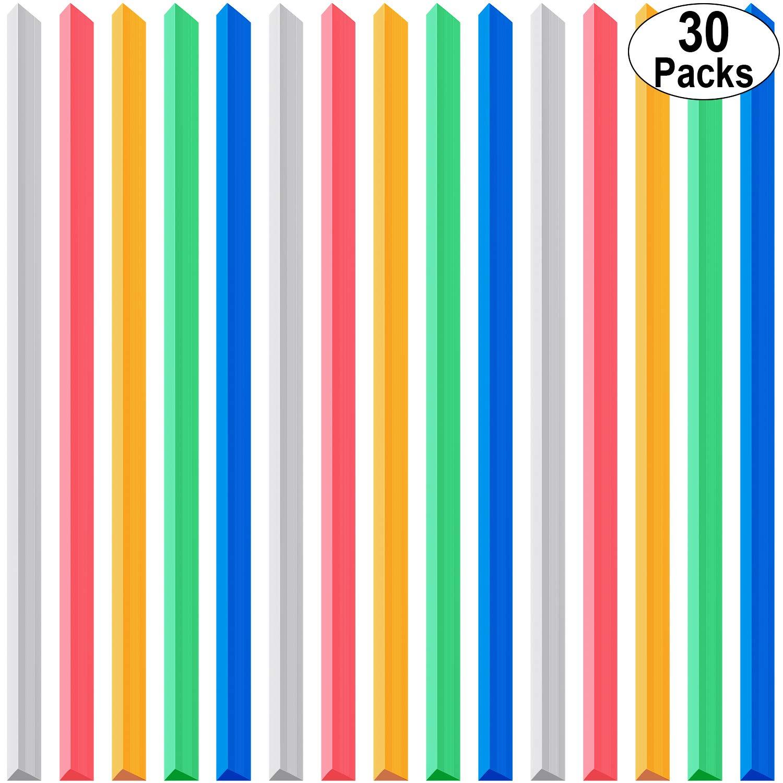 30 Piezas Barras de Encuadernación Barras de Encuadernación Con Agarre Deslizante para la Cubierta del Informe de la Escuela, Tamaño A4, Capacidad de 40 Hojas, 12 Pulgadas (5 colores): Amazon.es: Oficina y papelería