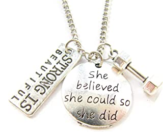 She Believed she Could so she did Necklace, Personalized Necklace, Graduation Gift