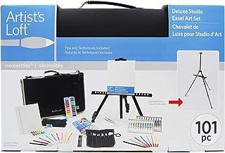 Complete Art Studio Easel Set- Art Easel & Portfolio Set, 101 Piece Collection of Artist Materials