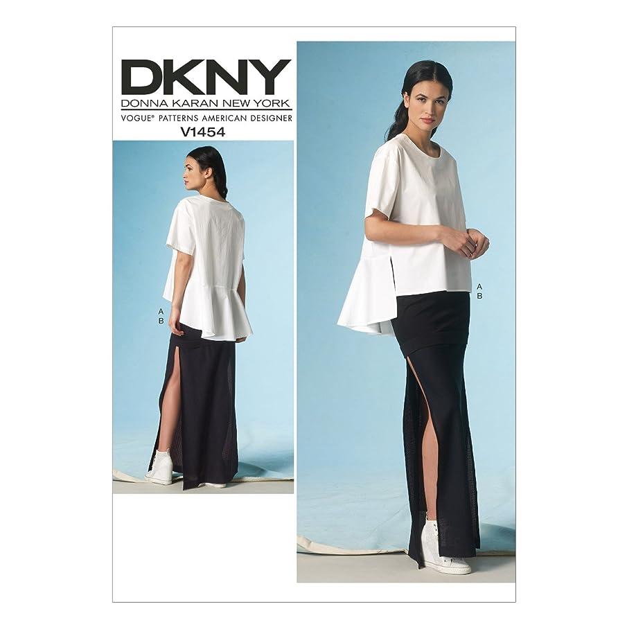 Vogue Patterns V1454 Misses' Top & Skirt, Size E5 (14-16-18-20-22)