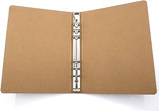 Coque de Reliure en Papier Kraft A5, Reliure à Six Trous en Métal, Couverture de Bricolage Multifonctionnelle, Adaptée Aux...