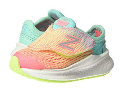 New Balance Kids Fresh Foam Fast (Infant/Toddler) (Bleached Guava/Bleached Lime Glo) Girls Shoes