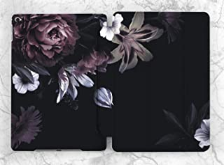 Black Floral Peonies Case For Apple iPad Mini 1 2 3 4 5 iPad Air 2 3 iPad Pro 9.7 10.5 11 12.9 inch iPad 9.7 inch 2017 2018 2019