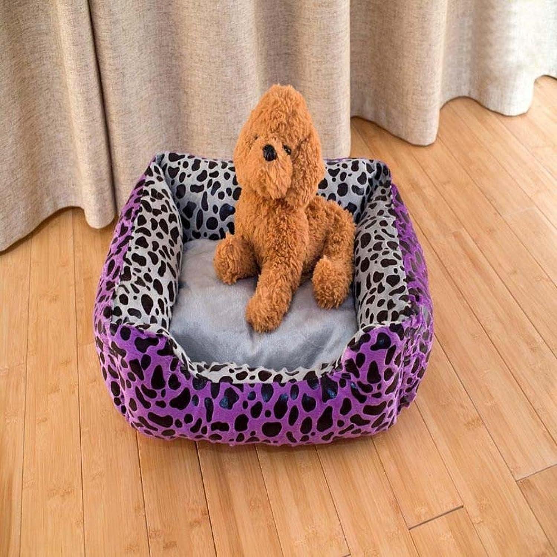 Lozse Pet Beds Pet Mat atmosphere Purple Leopard tattoo Pet litter Pet Supplies Purple for Dogs and Cats Sleeping Cushion