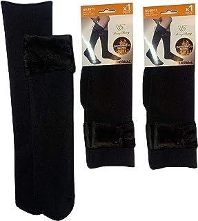 Thermal Socks, 3 pares de calcetines térmicos suaves con forro interior de pelo – Medias de invierno unisex