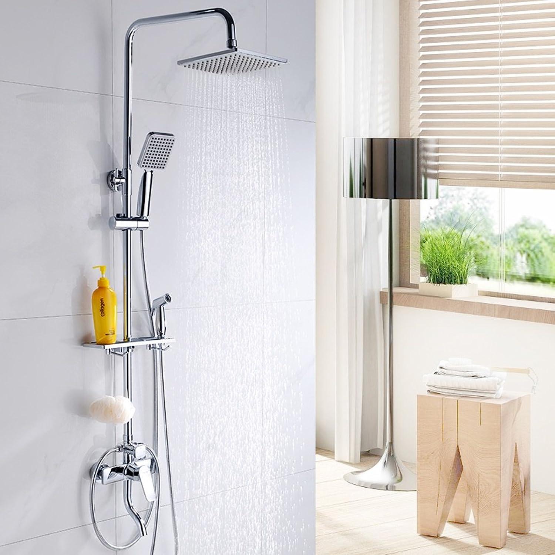 Dusche-Set mit Frauen waschen Waffe hei und kalt drei Wasser kann volle Kupfer-Dusche zu heben