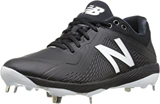 New Balance Mens L4040v4 Metal Baseball Shoe, Black, ...