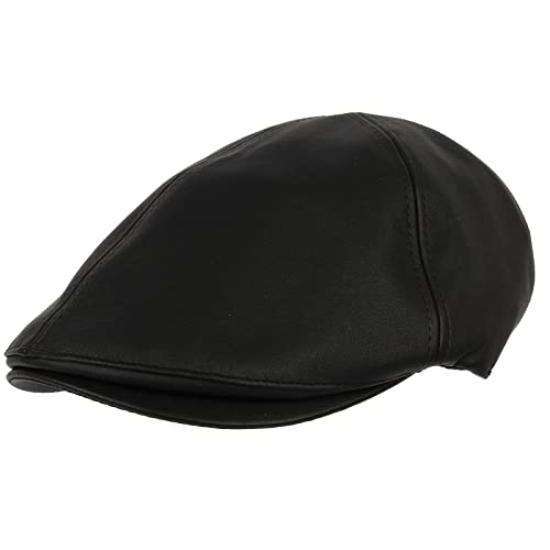2d55afef9dc2e WITHMOONS Faux Leather Newsboy Hat Flat Cap SL3039