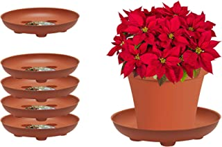 Curtis Wagner Plastics DS-1600T Carpet Saver Plant Tray Drip Pans (5-Pack) - Terracotta, Round (Diameter = 16
