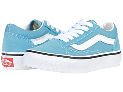 Vans Kids Old Skool (Little Kid) (Delphinium Blue/True White) Kids Shoes