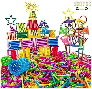 Playmate 500 PCS Smart Sticks Building Toy Building Blocks Different Shape Educational Construction Engineering Set 3D Puz...