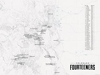 colorado front range map poster