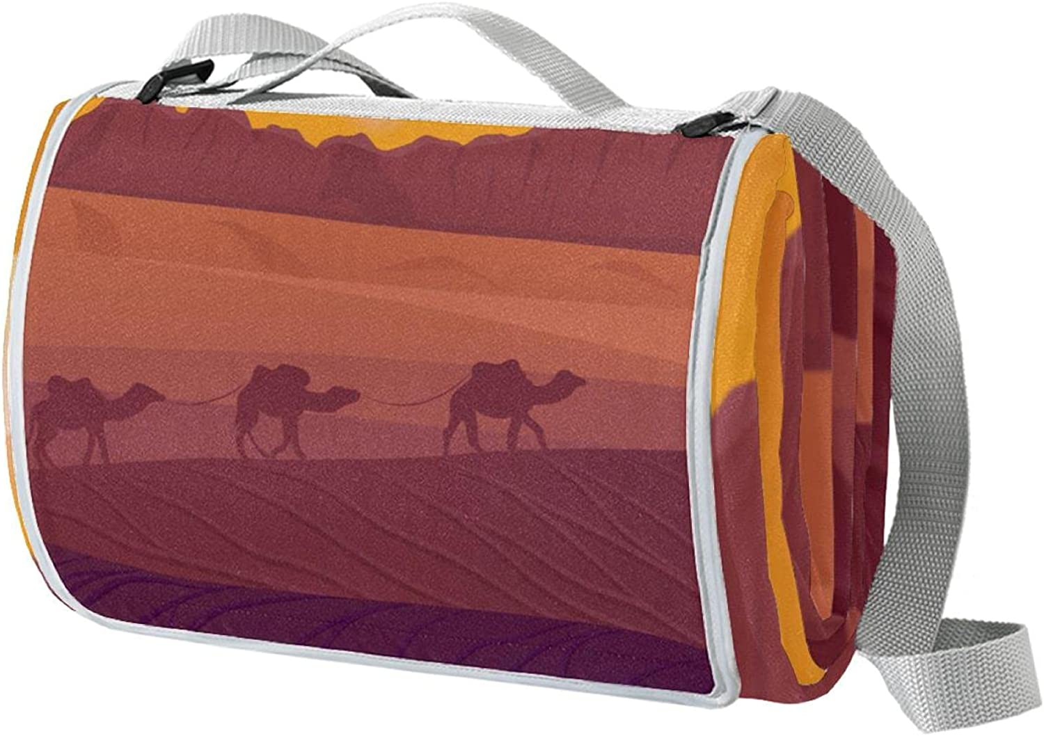 Desert Landscape Max 72% OFF with Camels Picnic Special price Foldable Large Floor 57 Mats