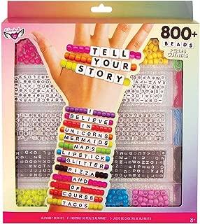 Fashion Angels Tell Your Story Alphabet Bead Case Bracelet Making Kit (800+ Set)