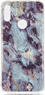 Huawei Y6 Pro 2019 Case, Glossy Marble Pattern Slim Hard Soft Silicone Back Case Cover Fit for Huawei Y6 Pro 2019