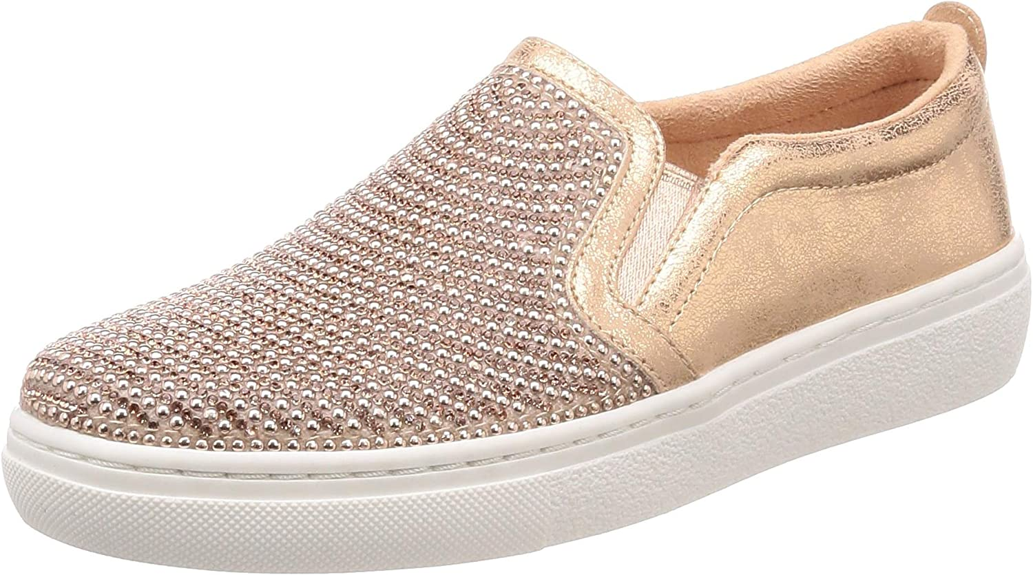 Skechers Street goldie Shiny Shaker Womens Slip On Sneakers