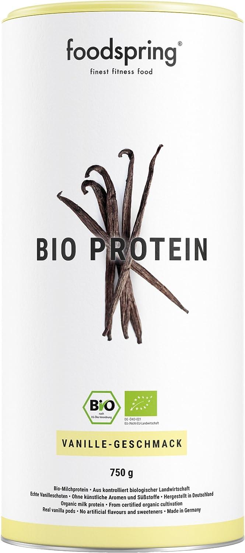 foodspring Proteína Orgánica, Vainilla, 750g, Proteína ...