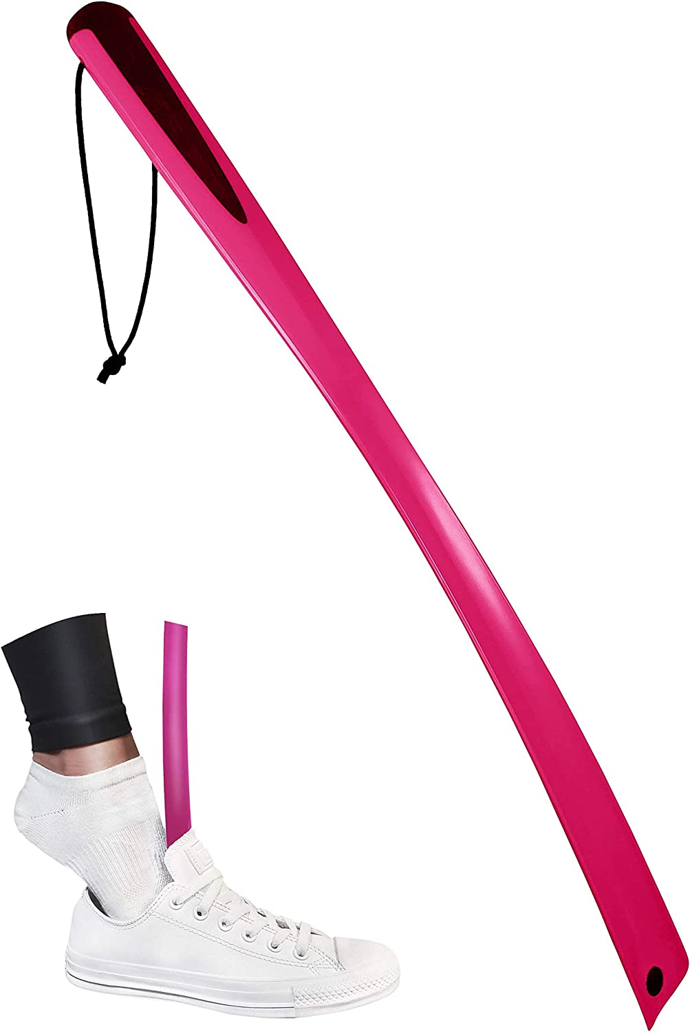 """SHOESTIK 24"""" Pink Long Virginia Beach Mall Shoehorn Bending Max 45% OFF Innovative No with"""