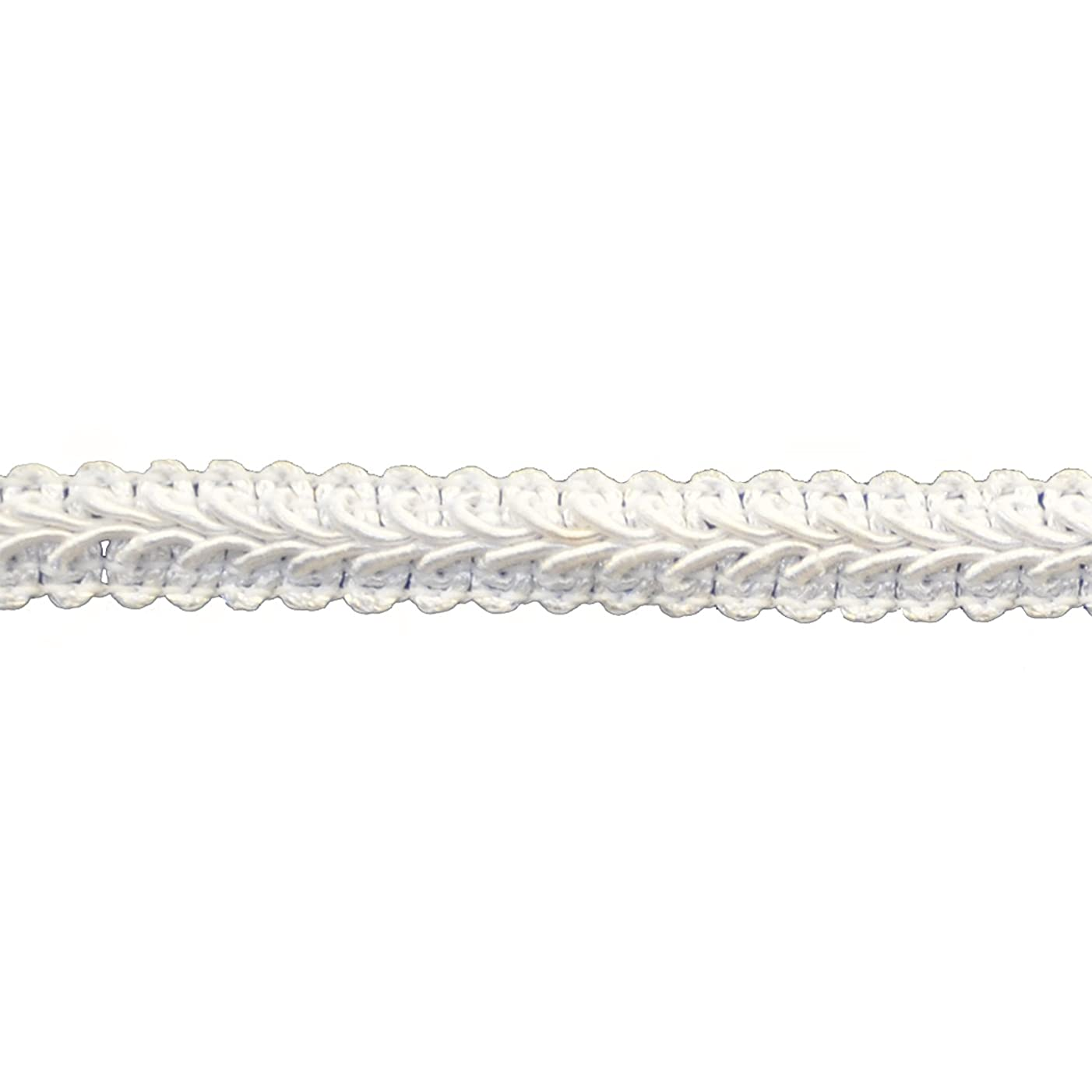 Braid 25-Yard Polyester Roll for Arts and Crafts, 1/2-Inch Wide, White