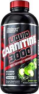 Nutrex Research Liquid Carnitine 3000   Premium Liquid Carnitine, Stimulant Free, Fat Loss Support   Green Apple