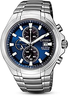 CITIZEN 西铁城 男士 指针式石英手表 钛 手链 CA0700-86L