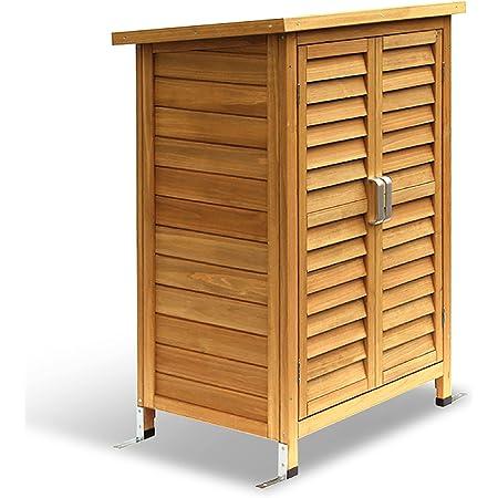 MCombo Armoire de jardin en bois Meuble de jardin pour les outils