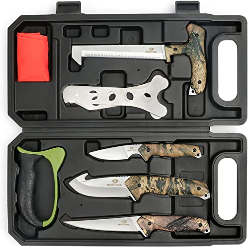 discount MOSSY OAK Hunting Field Dressing Kit new arrival - Portable high quality Butcher Game Processor Set (8-piece) sale