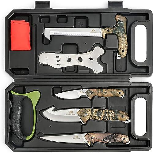MOSSY OAK Hunting Field Dressing Kit - Portable Butcher Game Processor Set (8-piece)